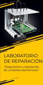 Laboratorio de reparación - Diagnóstico y reparación de unidades electrónicas